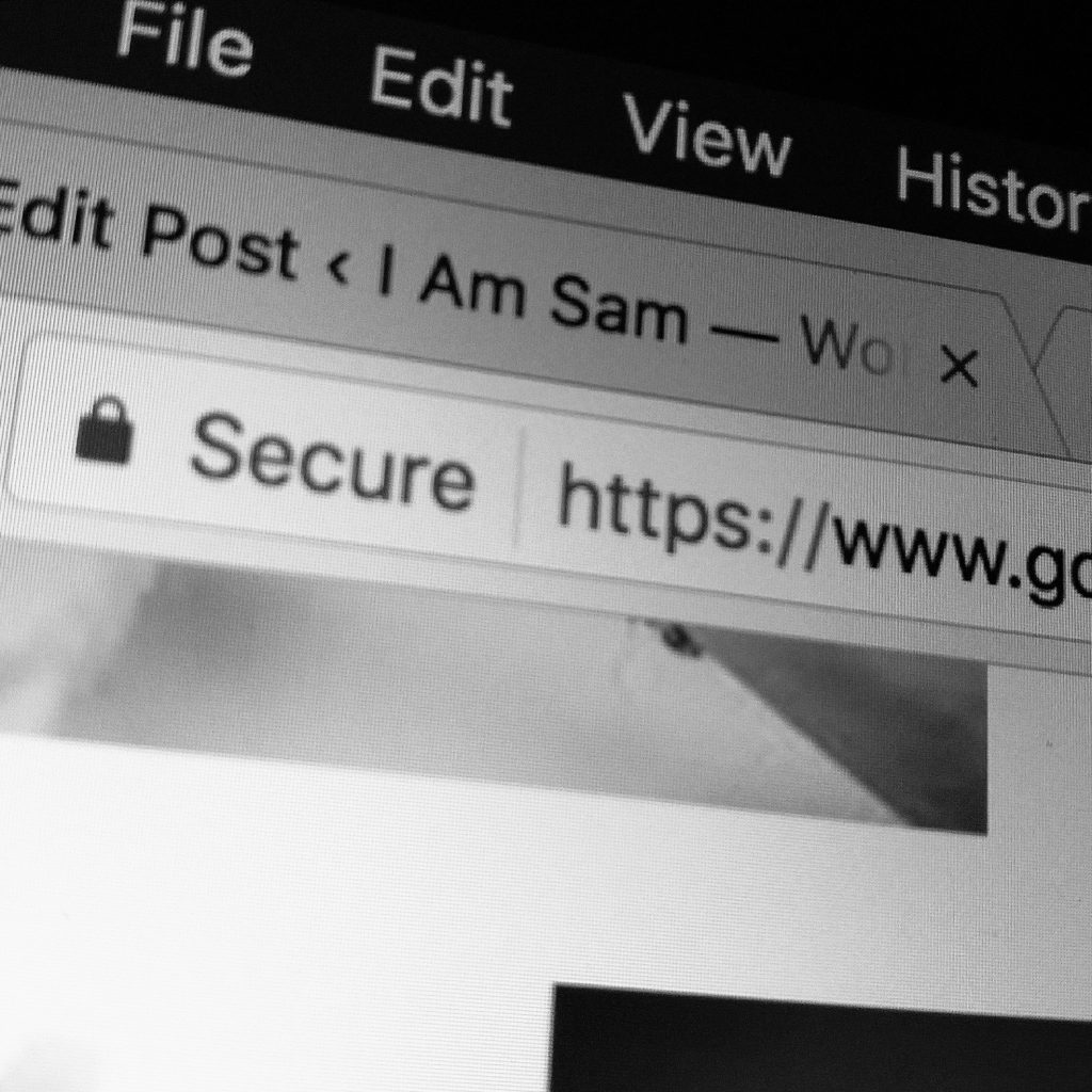 google chrome secure message in url bar